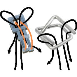 Как упаковывать стреппинг пряжками?