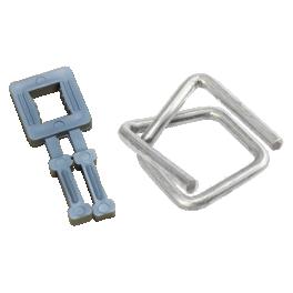Пластиковая и металлическая пряжки для стреппинга: различия