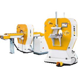Наша компания рада объявить о расширении ассортимента упаковочных машин. Теперь на нашем сайте вы сможете найти орбитальные стреппинг машины для горизонтальной упаковки серии Twist от итальянской компании PKG. Данные машины используются для обмотки длинномерной продукции в стрейч-пленку.